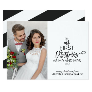 Cartão Nosso primeiro Natal como o Sr. e a Sra. Foto