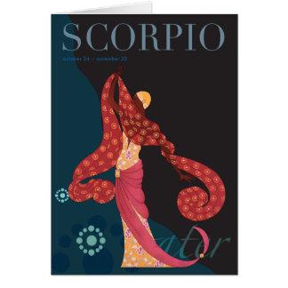 Cartão Nota da Escorpião