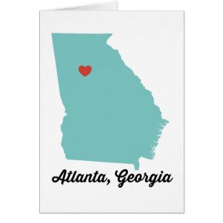 Cartão Nota de Atlanta, Geórgia/cartão - diga olá!