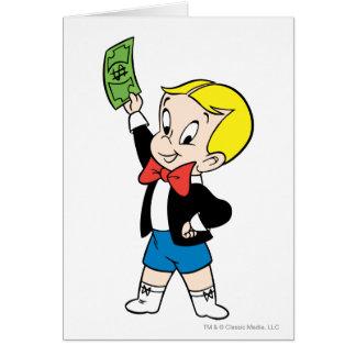 Cartão Nota de dólar rica de Richie - cor