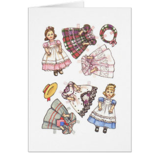 Cartão Nota de papel da boneca