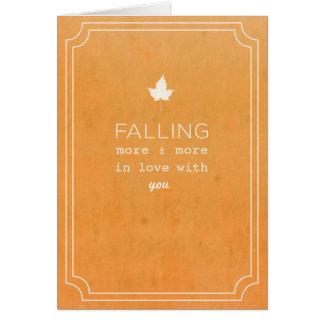 Cartão Nota do amor da queda