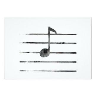 Cartão Nota musical