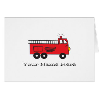 Cartão Notas da viatura de incêndio