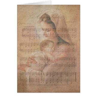 Cartão Notas do azevinho de Jesus do bebê da Virgem Maria