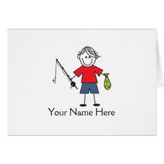Cartão Notas do menino da pesca