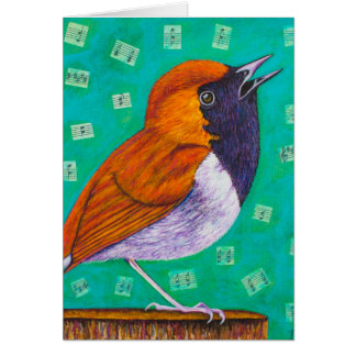 Cartão Notas do pássaro