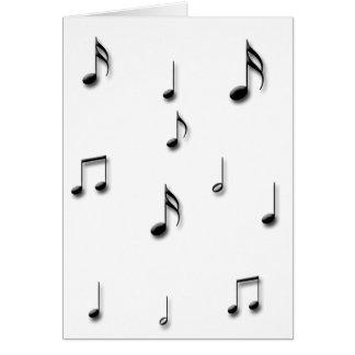 Cartão Notas musicais
