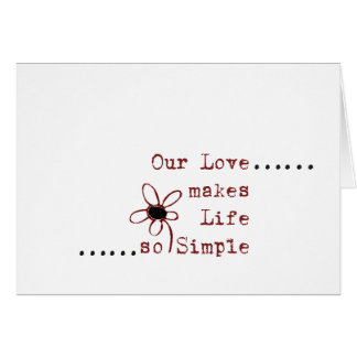 Cartão Notas simples do amor