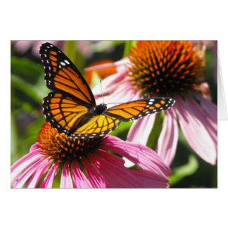Cartão Notecard com borboleta de monarca