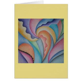 Cartão Notecard cor-de-rosa e roxo do jardim da arte