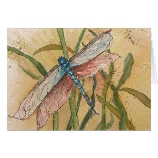 Cartão Notecard da libélula