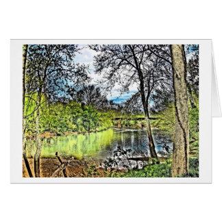 Cartão Notecard das reflexões do rio