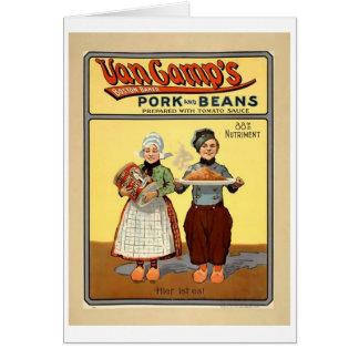 Cartão Notecard de Pork&Beans