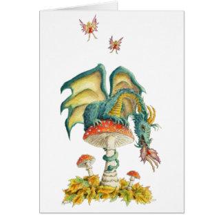 Cartão Notecard do dragão dos fungos
