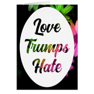 Cartão Notecard do ódio dos trunfos do amor