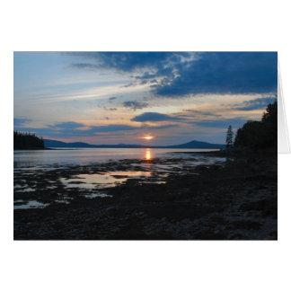 Cartão Notecard do por do sol da ilha de Warren - 2