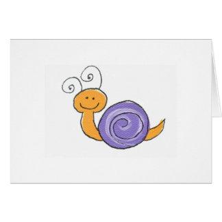 Cartão Notecard feliz do caracol