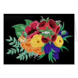 Cartão Notecard floral brilhante & bonito