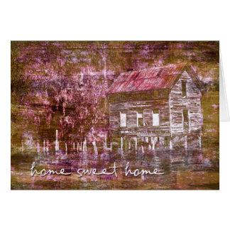 Cartão Notecard Home doce Home