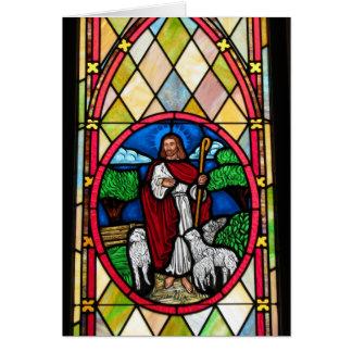 Cartão Notecard: Janela na igreja metodista, Longton