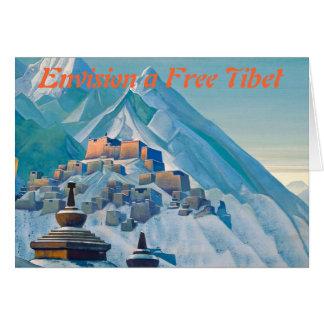 Cartão Notecard livre de Tibet