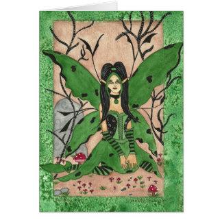 Cartão Notecard mà verde