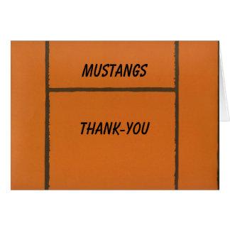Cartão Notecard obrigado ou vazio do basquetebol feito