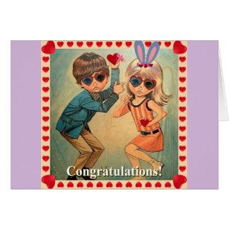 Cartão Notecard-parabéns