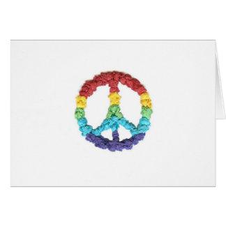 Cartão Notecards da paz dos gráficos do Kat do karaté