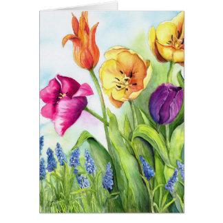 Cartão Notecards das tulipas