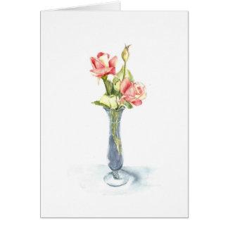 Cartão Notecards dos rosas de chá