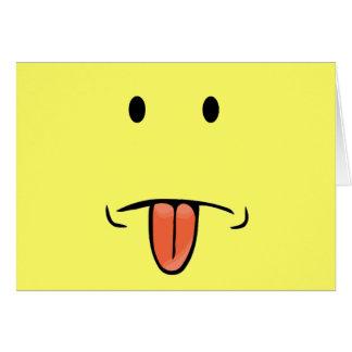 Cartão Notecards engraçados da cara