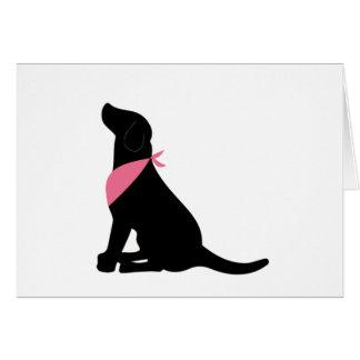 Cartão Notecards pretos de labrador retriever