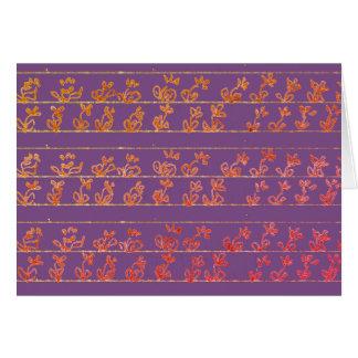 Cartão Notecards vazios das notas do jardim roxos