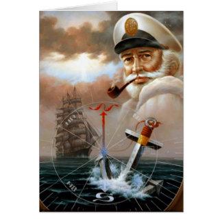 Cartão NOTÍCIA & capitão 2 do mapa ou capitão de mar