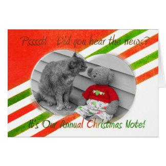Cartão Notícia do Natal