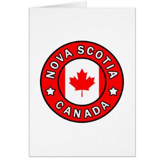 Cartão Nova Escócia Canadá