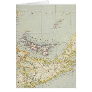 Cartão Nova Escócia, Prince Edward Island, Novo Brunswick