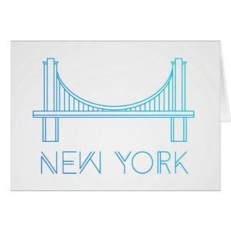 Cartão Nova Iorque da ponte de Brooklyn |