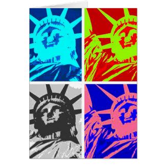 Cartão Nova Iorque da senhora Liberdade do pop art