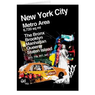 Cartão Nova Iorque do metro