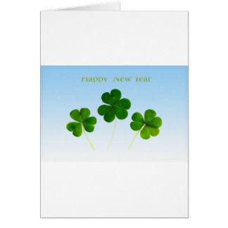 Cartão Novo-Ano-Dia irlandês
