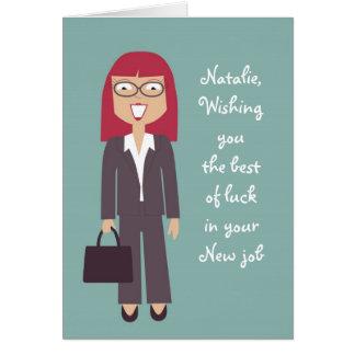 Cartão novo bonito do trabalho ou da promoção