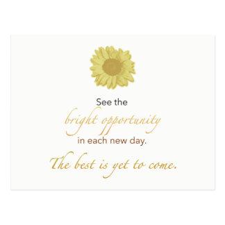 Cartão novo brilhante do dia
