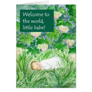 Cartão novo da boa vinda do bebê