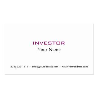 Cartão novo do accionista do dinheiro da ideia cartão de visita