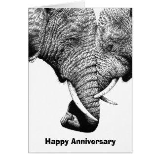 Cartão novo do aniversário dos elefantes africanos