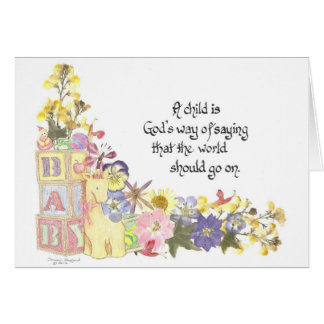 Cartão novo do bebê