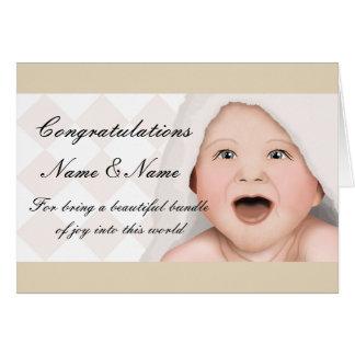 Cartão novo do bebê dos parabéns
